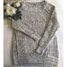 Free People Sweater Blue/white with a slight silver metallic in the threading but not too much Free People Sweaters Crew & Scoop Necks