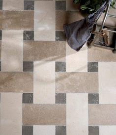 Cleopatra's Basket limestone tiles in a tumbled finish from Artisans of Devizes.