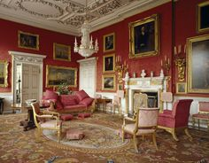 The Drawing Room at Felbrigg, remodelled by Paine in 1751 but retaining its late 17th century ceiling ©National Trust Images/Nadia Mackenzie