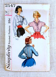 Vintage 1970s sewing pattern Simplicity by momandpopcultureshop