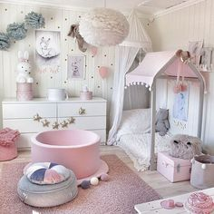 Using Little Girls Room is part of Toddler bedroom girl Adhere to a design style that you will love, but in addition one which can help make your room feel larger Decorating a kid's room can - Baby Bedroom, Baby Room Decor, Nursery Room, Girls Bedroom, Nursery Decor, Nursery Ideas, Girl Toddler Bedroom, Toddler Princess Room, Bedroom Ideas