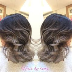 Image result for grey balayage bob