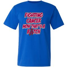 Make a funny statement with Fighting Multiple Myeloma Cancer Now That's a Bitch American Made T-Shirts features an awareness ribbon and eye-catching text to make a bold but humorous impact while raising awareness for your cause by AwarenessRibbonColors.Com #MultipleMyelomaAwareness