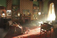 BBC Sherlock sets & design - 221B living room. I always love just how much effort goes into the sets & design of Sherlock - the things you might only see for a second, but they lavish attention into....