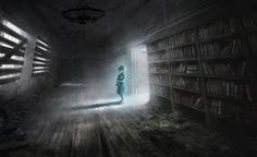 Perfec Pictures Anime - abandoned library