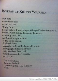 Read This Before Killing Yourself