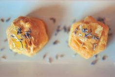Peanut Butter and Comb Honey Puff Pastries With Lavender