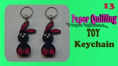 paper quilling toy keychain