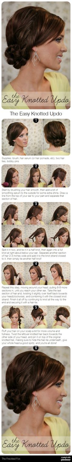 The Easy Knotted Updo Hair Tutorial.