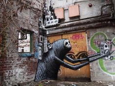 Urban Street Art: New Works by Phlegm (8 pics) - My Modern Metropolis