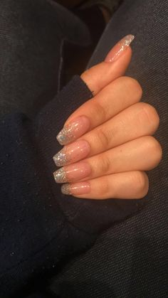 Clear acrylic nails - glass slipper