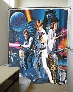 Star Wars Movie Poster Shower Curtains