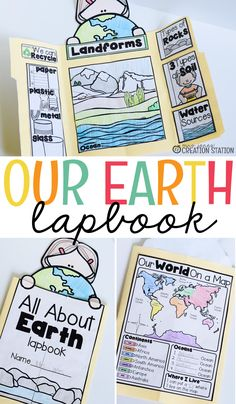 I love using interactive lapbooks in the classroom. They are fun to create, engaging and can be used throughout the year to review skills taught. This lapbook is all about our Earth.  A landform flipchart, recycling resources, book about soil and water sources and more are all included in this lapbook. - Mrs. Jones' Creation Station #Lapbooks #Earth