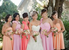 Pretty color palette for the bridesmaid dresses. Photography by stephenpappasphoto.com