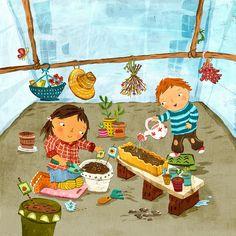 gardening kids by Good Illustration., via Flickr