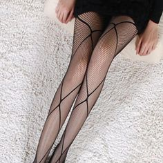 Item Type: Tight Gender: Women Model Number: Women Tight Pattern Type: Solid Material: Spandex Thickness: Thin Brand Name: Womail Color: Black Black Fishnets, Black Pantyhose, Pantyhose Outfits, Nylons, Fishnet Tights, Fishnet Stockings, New Years Eve Outfit Ideas Winter, Silvester Outfit, Streetwear