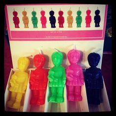 Tiny Clonette doll birthday candles. Het Huis van Nut gift shop in Lier, Belgium.
