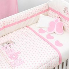 Полный Утешитель Установить для Детская кроватка, Омм Baby Crib Bedding, Baby Bedroom, Baby Cribs, Baby Girl Blankets, Baby Pillows, Baby Girl Clipart, Baby Elephant Nursery, Crib Sets, Kid Beds