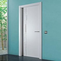 Puertas Sanrafael Lacada Model 971 Fire Door with stylish indents. #directdoors