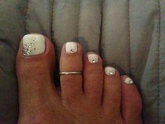 Wedding Toe Nails, Wedding Toes, Wedding Pedicure, Wedding Nails For Bride, Wedding Nails Design, Bride Nails, Bridal Toe Nails, Polish Wedding, Wedding Beach