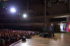 President Obama Speaks at Palais Des Beaux Arts