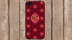 Personalized Monogram Oriental Burgandy Pattern for iPhone 4/4s/5/5s/5c Samsung Galaxy S3/S4/S5/Note 2/Note 3 by TopCraftCase, $6.99