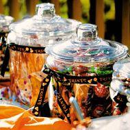 Halloween wedding candy bar