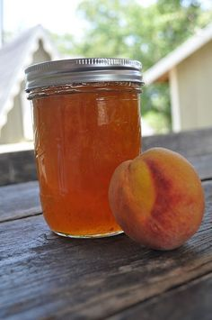 homemade peach jelly