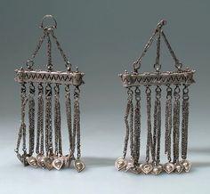 Afghanistan   Shoulder ornaments; metal (silver)   Purchased 1969, Kabul