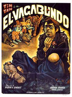"""El Vagabundo (1953), poster by Ernesto Garcia """"El Chango"""" Cabral"""