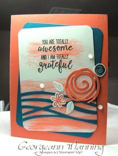 Stampin' Everything!: Swirly Bird, Grateful Bunch, Swirly Scribbles Thank You Card