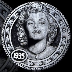Marilyn by Andy Gonzales Metal Clay Jewelry, Coin Jewelry, Hobo Nickel, Coin Art, Mens Silver Rings, Unusual Art, World Coins, Rare Coins, Coin Collecting