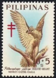 Philippines Stamp - Bird Monkey eating Eagle