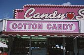 Cotton candy sign at concession stand