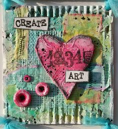 Paperlicious Designs: Mixed Media Cardboard Art Tutorial/Valentines Day Project