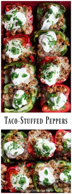 Taco-Stuffed Peppers Recipe