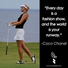 Poodle Golf's 'Little Black Shirt' with white Poodleskirt. #quotes #cocochanel