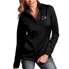 "Women's Philadelphia Flyers Antigua Black Leader Full Zip Jacket. ""My #NHL Wish List Sweeps"""