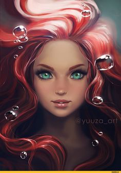 арт барышня,арт девушка, art барышня, art девушка,,красивые картинки,Ariel,Disney,Yuuza,artist