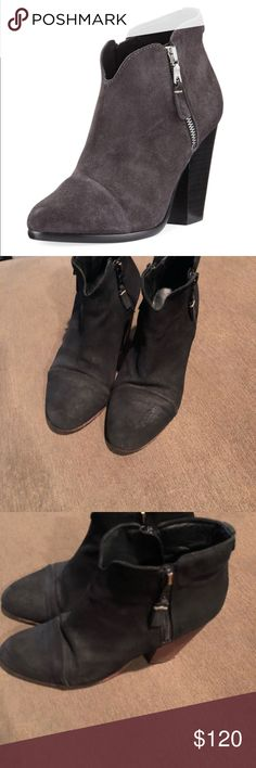 rag & bone Margot suede ankle boots rag & bone Margot suede ankle boots in good condition with wear on leather, soles and heels shown in pics from use these are not perfect they have been worn but have a lot of life in them they are super cute and comfy rag & bone Shoes Ankle Boots & Booties