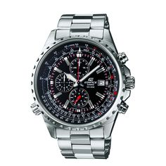The Casio Men's Edifice Stainless Steel Multi-Function Chronograph Watch exists at the crossroads of comfort, style and functionalitywhich is where you should be. This dynamic timepiece kicks off with