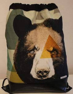 Beutel / Rucksack / Tasche < UNIKAT > Bären-Motiv von nahtSachen auf DaWanda.com