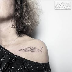 Delicate+Mountain+Tattoo+by+ahmet_cambaz