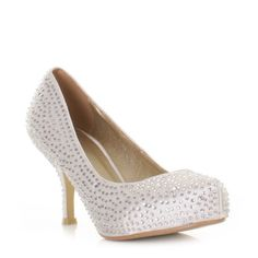 91e7d60c9e6 Kitten Heel Diamante Shoes. £26. Janet Ingram · Wedding shoe idea