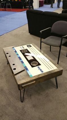Casset tape #coffee table at #NAMM2015