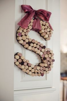 DIY Decorative Initial Made From Wine Corks....wonder if I could do this with shot gun shells?