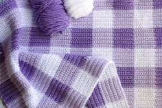 I'm beyond thrilled to share this gingham pattern with you! Previously I've made this blanket with Caron Simply Soft Brand…