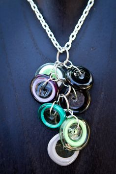 Lampwork Disc Necklace by Classy sassy @  Etsy - shenlivesin Bellingham WA!