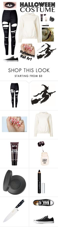 """Jeff the killer 🔪🎃"" by pagan-hippy-freak ❤ liked on Polyvore featuring WithChic, CITYSHOP, Mehron, Youngblood, Givenchy and Converse"
