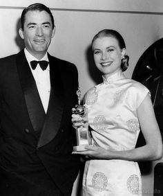 Grace Kelly and Gregory Peck, Golden Globes, 1956